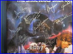 Star Wars The Empire Strikes Back Signed Poster 16 Autographs