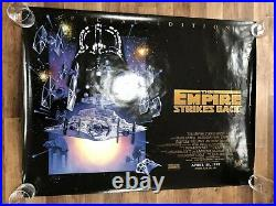 Star Wars The Empire Strikes Back UK Quad 30 X 40 Genuine Original Movie Poster