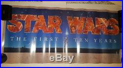 Star Wars The First Ten Years Poster ('87) 1st Printing! A John Alvin work