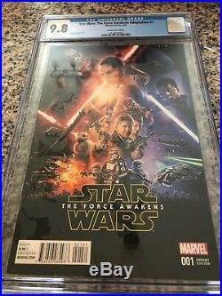 Star Wars The Force Awakens #1 Movie Poster Cover Marvel 2016 CGC 9.8 NM/MT