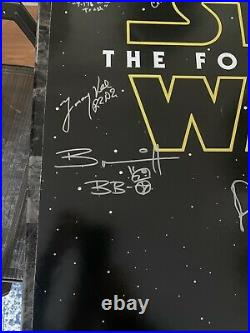 Star Wars, The Force Awakens Autographed DS Teaser Poster, 12 Autographs