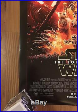 Star Wars The Force Awakens Movie Poster 27X40 Original Final DS Rolled NM