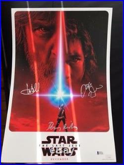 Star Wars The Last Jedi Autographed Signed Rare Celebration Teaser Poster