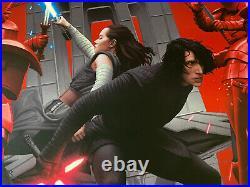 Star Wars The Last Jedi Movie Poster Mondo Art Print Kylo Ren Rey Rory Kurtz