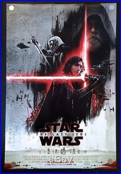 Star Wars The Last Jedi Original Movie Poster International Dark Side Version DS