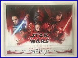 Star Wars The Last Jedi Original Quad Cinema Poster. Main Design