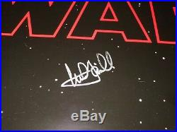 Star Wars The Last Jedi Signed Original D/S 1-Sheet Movie Poster Mark Hamill COA