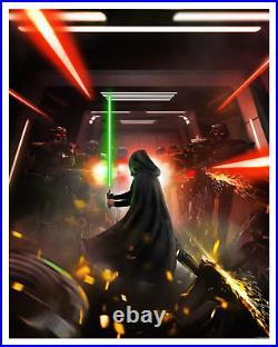 Star Wars The Mandalorian Savior Andy Fairhurst Movie Art Poster Print Jedi Luke