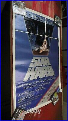 Star Wars The Original is Back 1982 Movie Poster Revenge of the Jedi Used