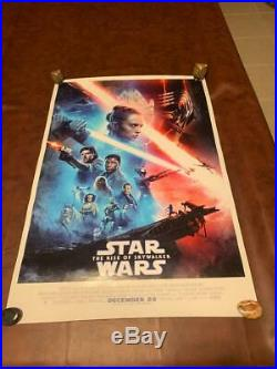 Star Wars The RISE OF SKYWALKER Double Sided DS Theater 27x40 Movie Poster