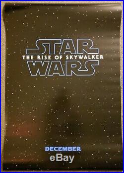 Star Wars The Rise Of Skywalker 27x40 D/S Movie Theater Poster Teaser