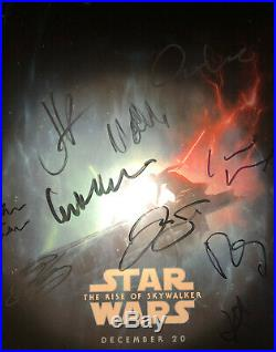 Star Wars The Rise Of Skywalker Signed 12x18 Cast Poster Exact Photo Proof