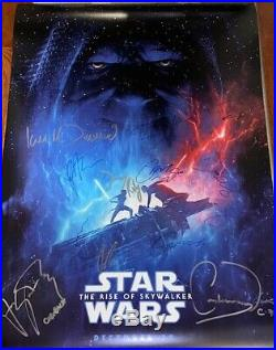 Star Wars The Rise of Skywalker 27x40 Movie Poster CAST SIGNED x15