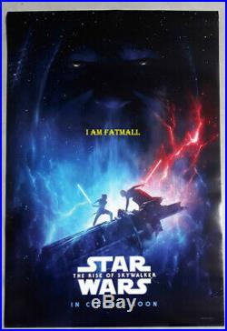 Star Wars The Rise of Skywalker original Movie 27x40 DS POSTER 2019 Lucas film