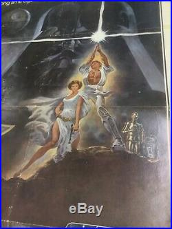 Star Wars Theater One Sheet Poster Style A 77/21 1977 Original Vintage