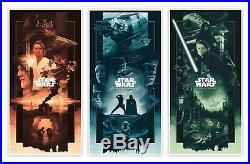 Star Wars Trilogy Alternative Movie Poster Variant Set John Guydo #/200 NT Mondo