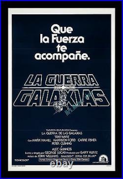 Star Wars USINTERNATIONAL 1977 Advance 1-Sheet MOVIE POSTER PRINTED IN USA