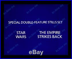 Star Wars Ultra Rare Double-feature Uk Double Crown Movie Poster Insert Set