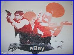 Star Wars V Empire Strikes Back art print movie poster Boba Fett Han Solo