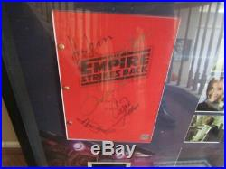 Star Wars V-the Empire Strikes Back -autographed Movie Script In Large Shadow Bo
