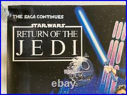 Star Wars VI Return Of The Jedi Original 1983 Quad Poster Josh Kirby Art Rolled
