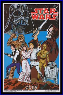 Star Wars Very Rare 1978 Filmstrip Movie Poster Pendulum Press Color Display