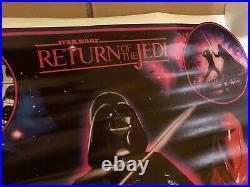 Star Wars Vintage Return of the Jedi Poster NEVER DISPLAYED 22 x 34 1983