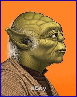Star Wars Yoda Art Print Poster by Mondo Artist Mike Mitchell Signed /1670