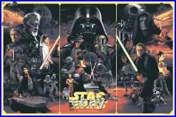Star Wars by Gabz Movie Poster Art Empire Strikes Back Return Jedi Mondo Print
