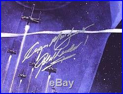 Star Wars cast signed Poster harrison ford carrie fisher mark hamill beckett coa