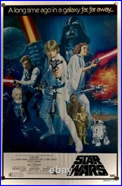 Star Wars original 1977 Australian One Sheet movie poster