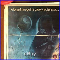 Star Wars poster Japan first public release 1977 Super Rare