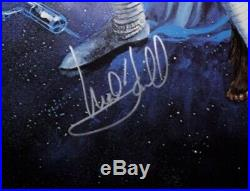 Star Wars reprint Poster Signed By Mark Hamill And Carrie Fisher