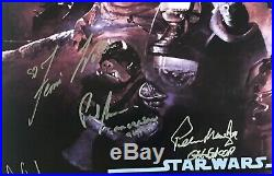 Star Wars signed movie poster rotj cast harrison ford carrie fisher mark hamill