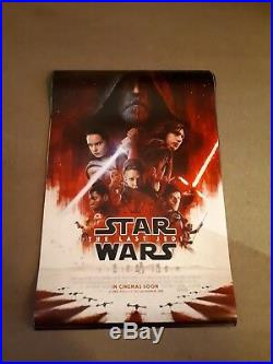 Star Wars the last Jedi movie one sheet Poster full size ORIGINAL ds