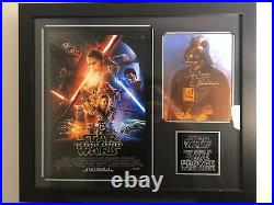 Star wars David Prowse Hand Signed Poster