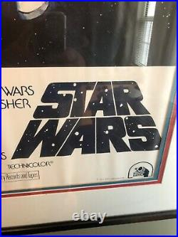 Stars Wars vintage movie poster circa 1977