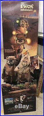 Super Rare! The Ewok Adventure Star Wars Standee Sign Movie Poster Lucas Films