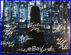THE DARK KNIGHT MOVIE POSTER Signed by 14 withCOA! Star Wars