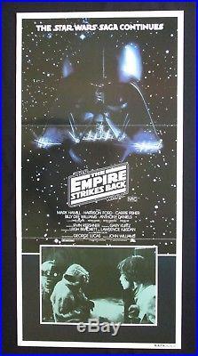 THE EMPIRE STRIKES BACK 1980 Orig Australian daybill movie poster Star Wars Yoda
