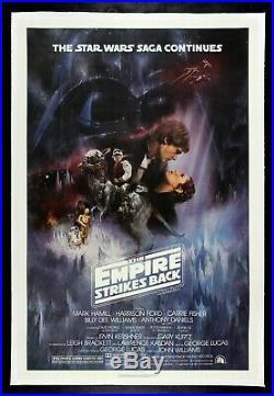 THE EMPIRE STRIKES BACK CineMasterpieces MOVIE POSTER LINEN STAR WARS 1980