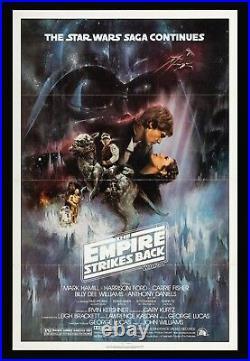THE EMPIRE STRIKES BACK CineMasterpieces ORIGINAL MOVIE POSTER STAR WARS 1980