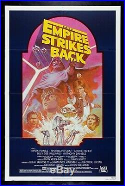 THE EMPIRE STRIKES BACK CineMasterpieces ORIGINAL MOVIE POSTER STAR WARS 1982R