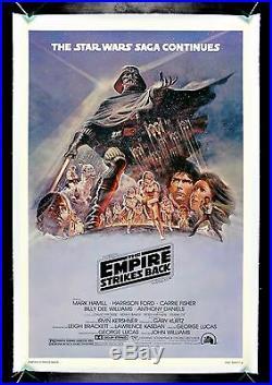 THE EMPIRE STRIKES BACK CineMasterpieces PURPLE STYLE B MOVIE POSTER STAR WARS