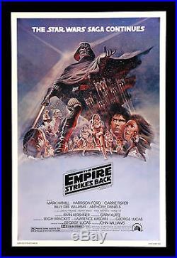 THE EMPIRE STRIKES BACK CineMasterpieces RARE PURPLE B MOVIE POSTER STAR WARS