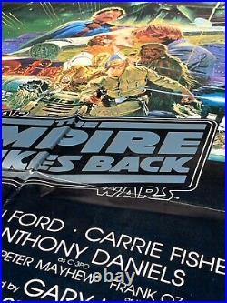 THE EMPIRE STRIKES BACK Original Australian One Sheet 1980s Star Wars Poster
