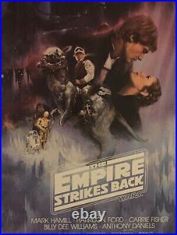 THE EMPIRE STRIKES BACK STAR WARS 1980 GWTW STYLE A SHEET NEAR MINT Kastel Art