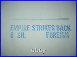 THE EMPIRE STRIKES BACK, nr mint orig 6-sht / movie poster STAR WARS Episode V