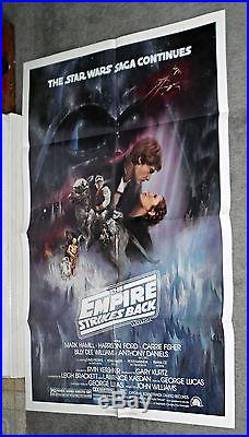 THE EMPIRE STRIKES BACK original 1980 style A NSS one sheet movie poster 27x41