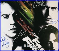THE FAST AND FURIOUS MOVIE POSTER Signed by 10 withCOA! Star Wars